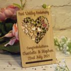Personalised 30th Pearl Wedding Anniversary, Filigree Hearts Card Plaque Gift